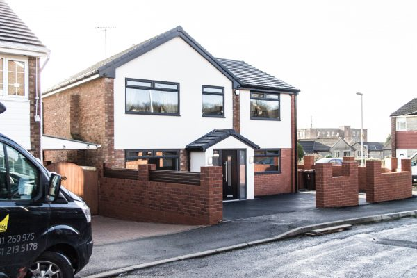 Double storey side and single storey rear house extensions, Manchester
